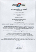 NT68PT - Prohlášení + CE